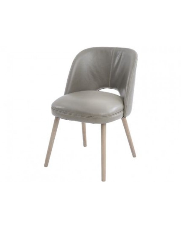 Helix Green Leather Dining Chair
